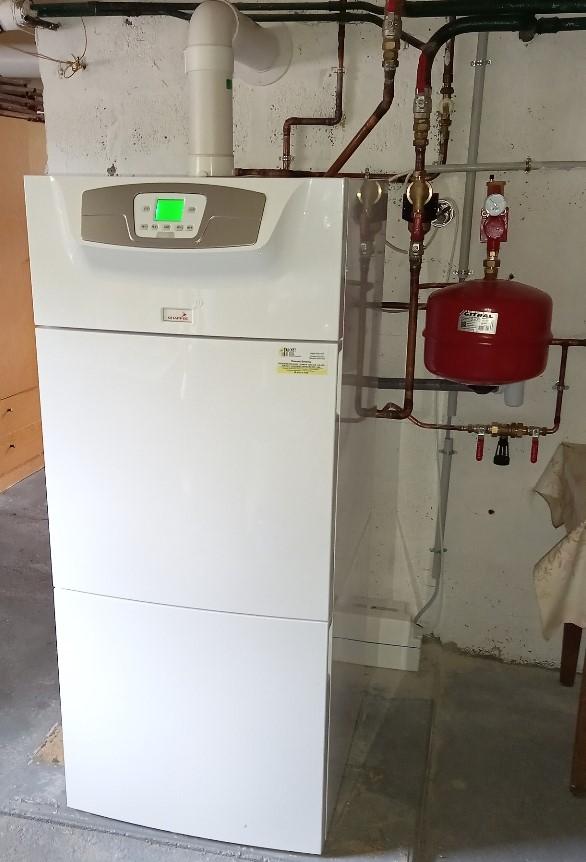 Substitution d'une ancienne chaudière gaz non condensation par un modèle gaz à condensation CHAPPEE - 27210 BEUZEVILLE