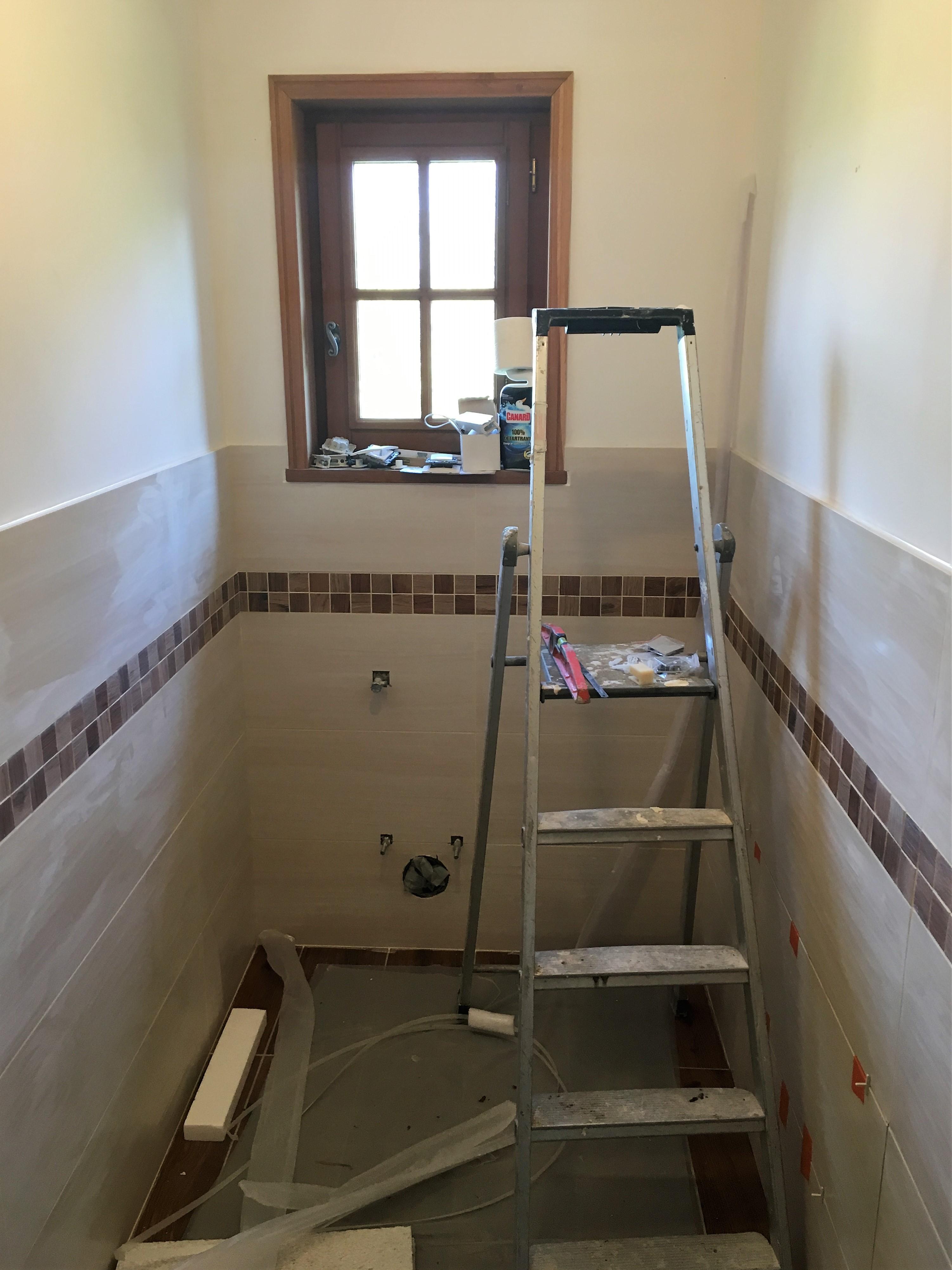 Création d'une pièce d'eau et rénovation complète d'une salle de bain - 14130 BONNEVILLE LA LOUVET