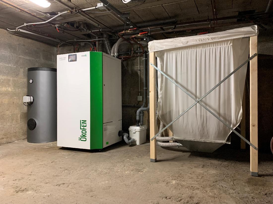 Installation d'une chaudière à granulés OKOFEN - 27500 BOUQUELON